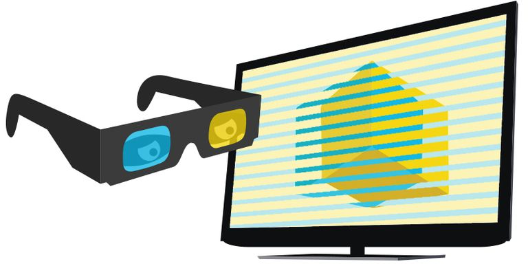 3D glasses and a TV set