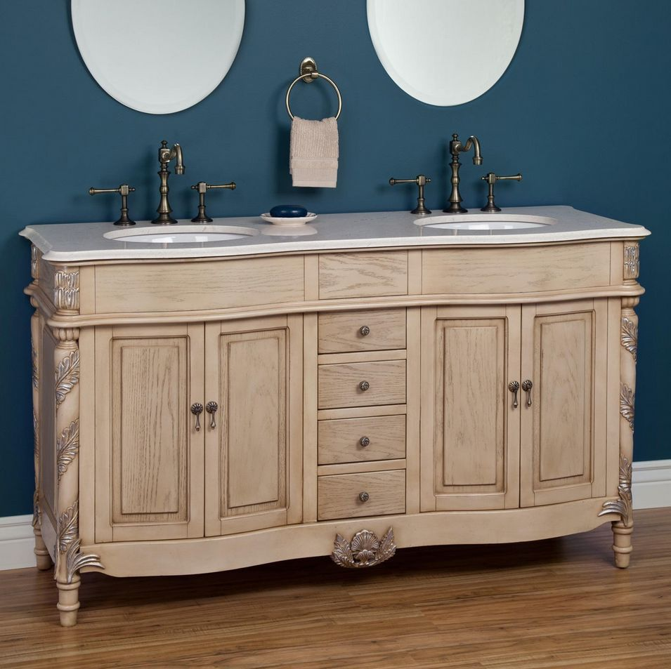 Edmeston Antique White Bathroom Vanity 73 Vanities  Furniture