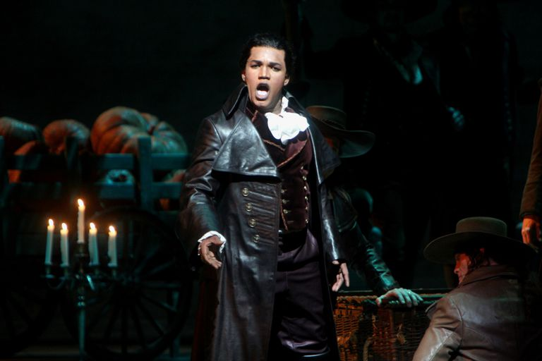 The tenor Lawrence Brownlee made his Met debut as Count Almaviva in Rossini's opera 'The Barber of Seville' at the Metropolitan Opera House on April 26, 2007.