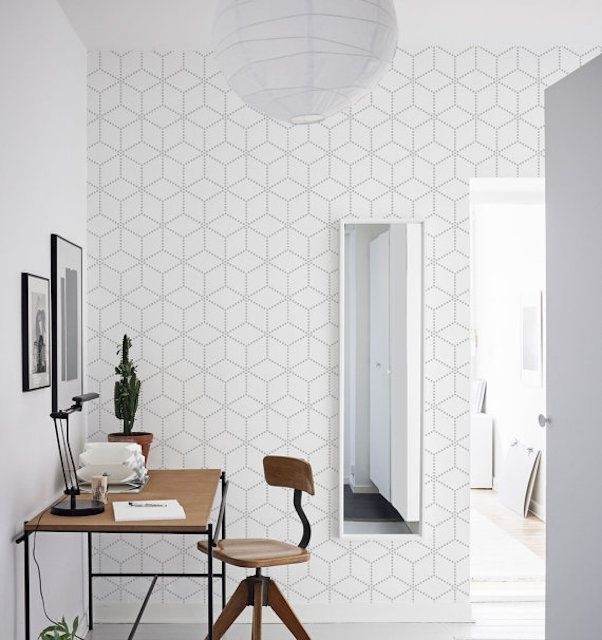 10 Beautiful Rooms Following The Geometric Wallpaper Trend