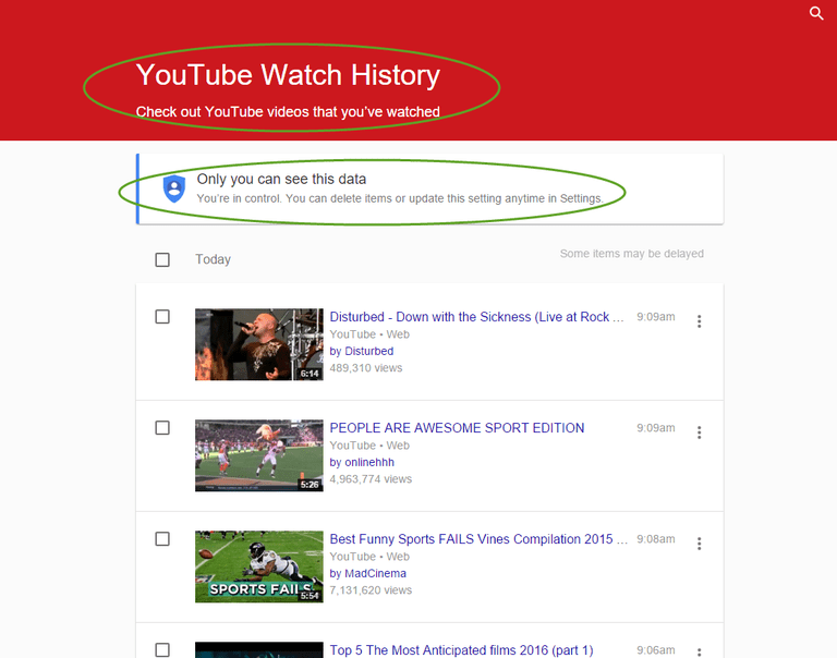 Yes, Google databases every YouTube video you view, and every keyword phrase you search for