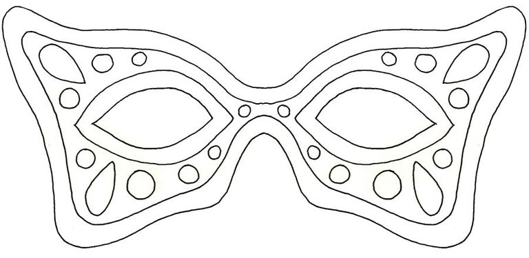 19 free mardi gras mask templates for kids and adults a mardi gras mask template with spots pronofoot35fo Images