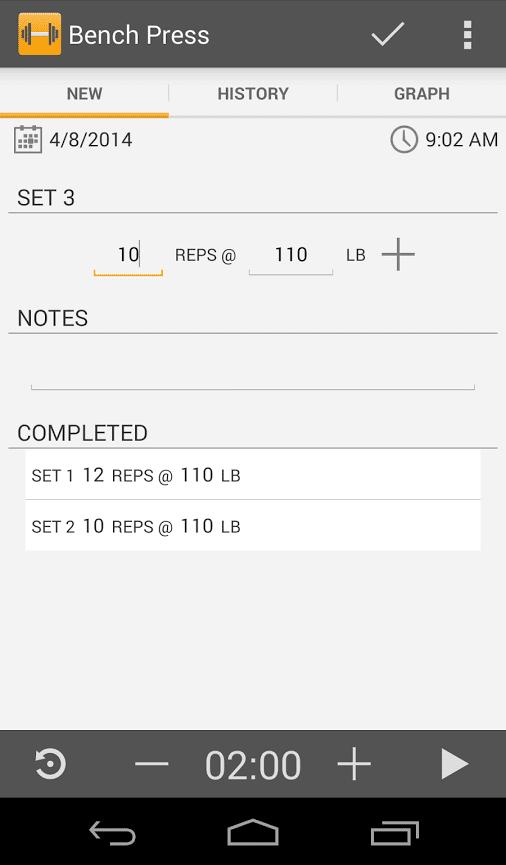 workout worksheet
