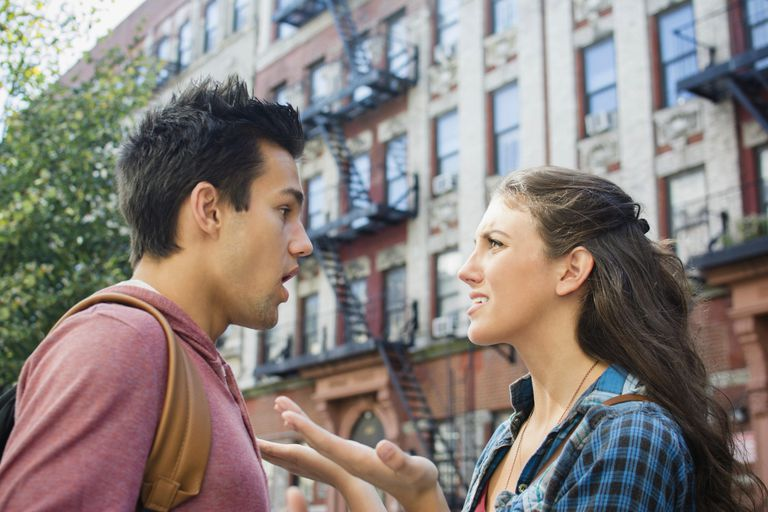USA, New York State, New York City, Brooklyn, Young couple having relationship difficulties