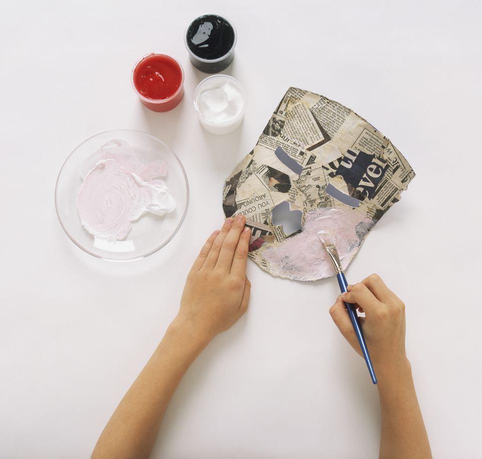 Papier Mache destiné how to make a paper mache mask
