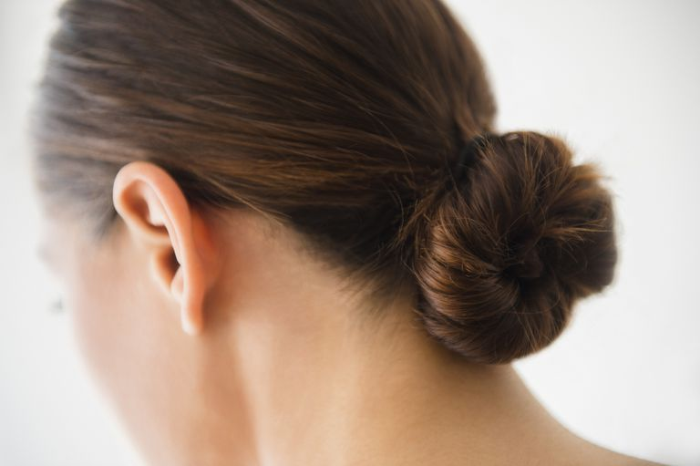 Woman's hair in a bun