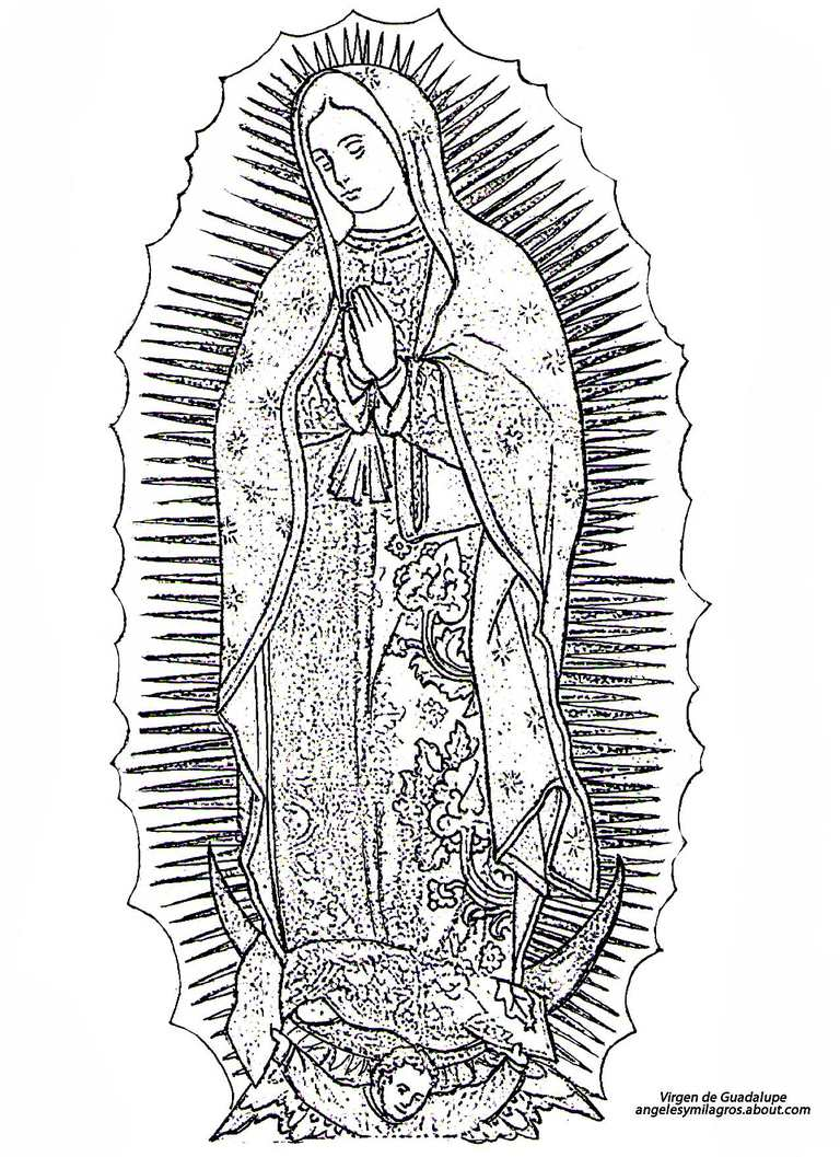 Dibujo de la Virgen de Guadalupe
