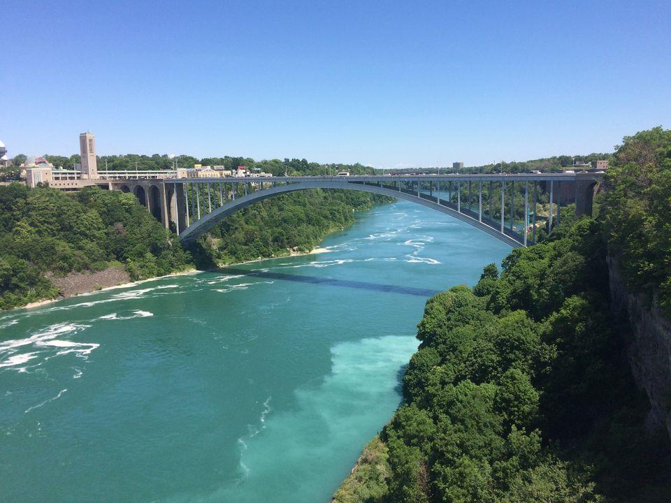 Rainbow Bridge Over Niagara River