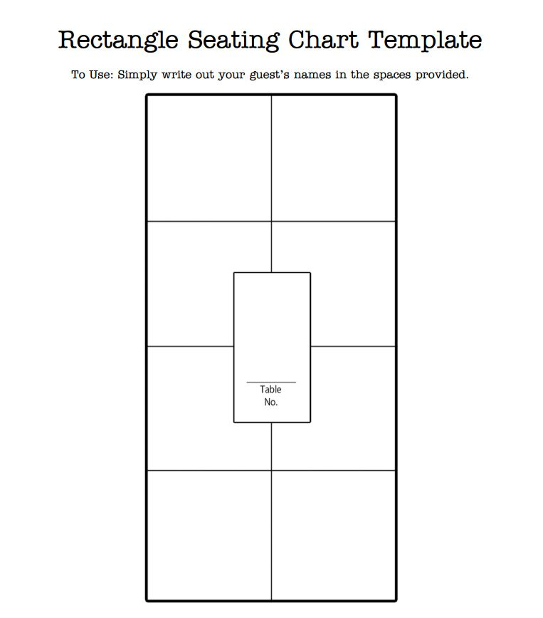 Free Wedding Seating Chart Templates You Can Customize – Seating Chart Template Word