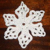 Thread Crochet Snowflake Applique