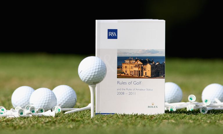 Golf rules books are issued every four years