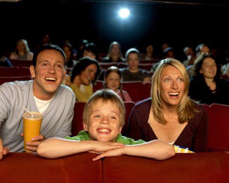 Family movie night in Louisville.