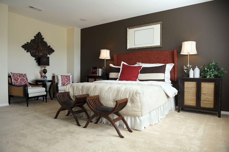 Designer bedroom with dark brown walls  Decorate your. Decorate Your Bedroom Like an Interior Decorator