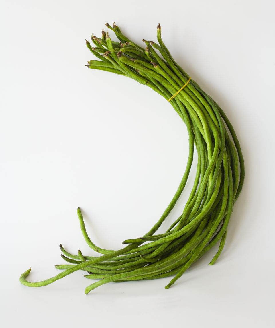 Chinese long beans, close-up