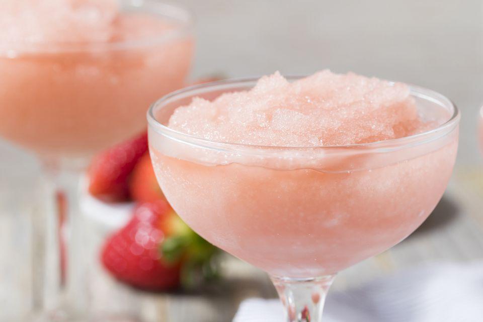 Van Gogh Vodka's Pomegranate Grapefruit Frosé - Blended Rose Wine Cocktail