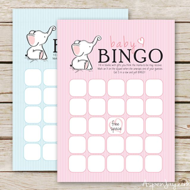 It is an image of Slobbery Free Printable Baby Shower Bingo Cards
