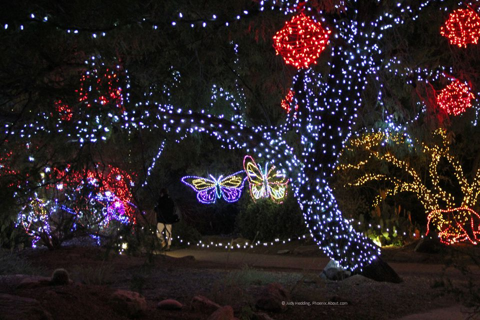 Zoolights Holiday Display at the Phoenix Zoo