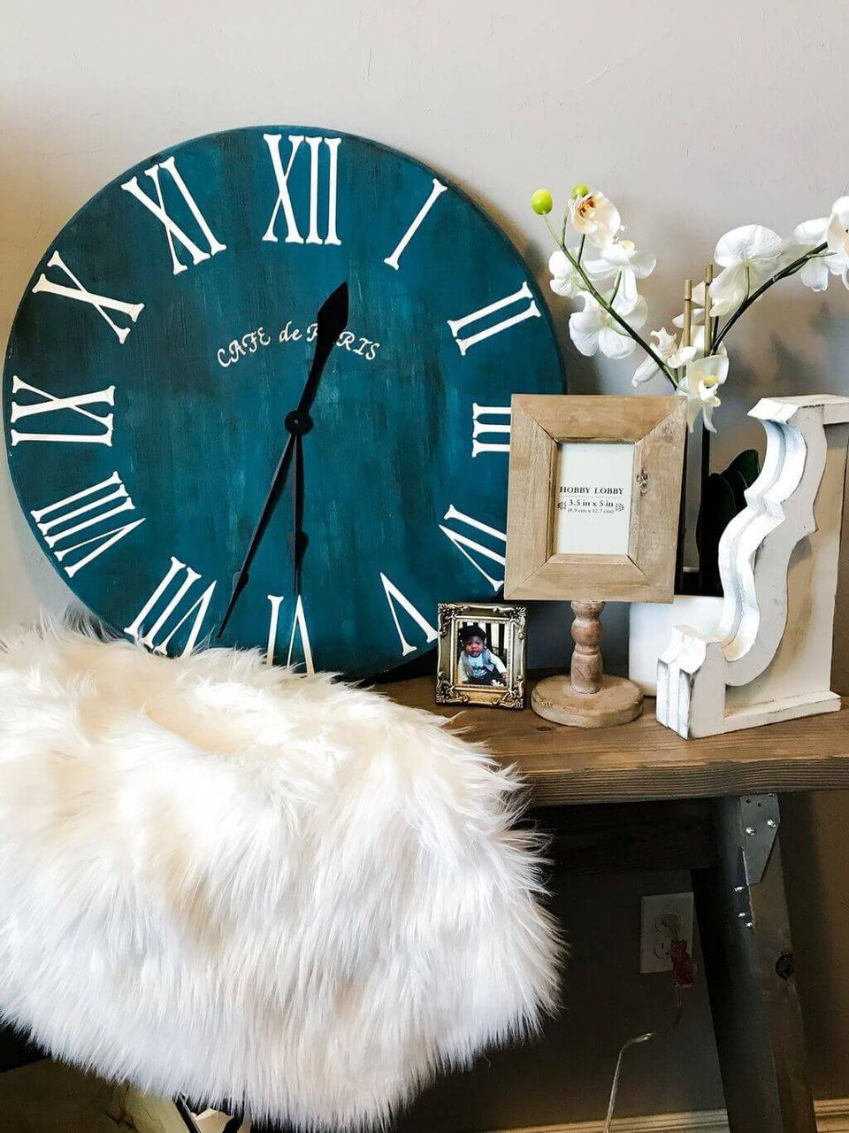 diy roman numeral clock