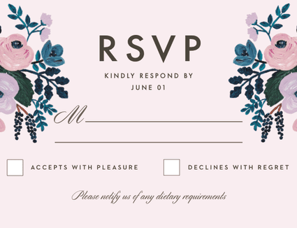 what to do when there is a request for an rsvp