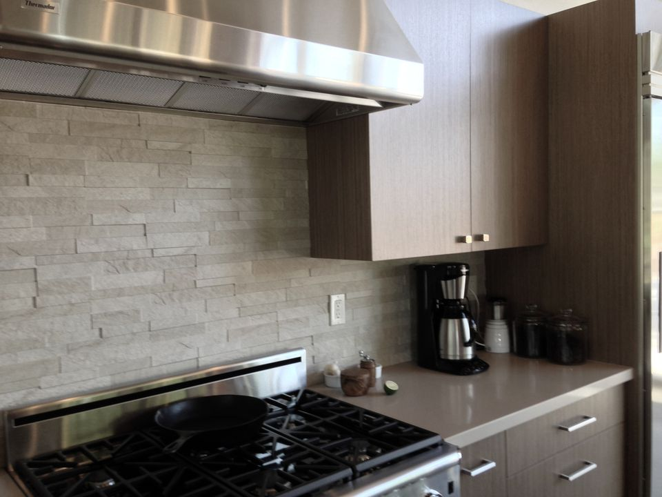 Grey Stone Backsplash