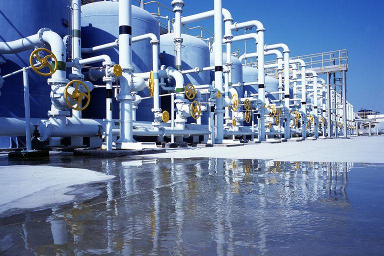 A desalination plant in Dubai.