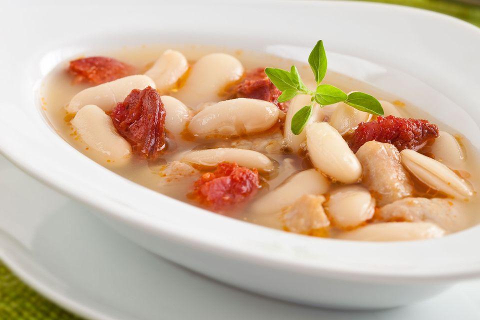 White beans and chorizo