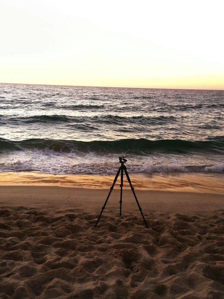 Tripod on beach