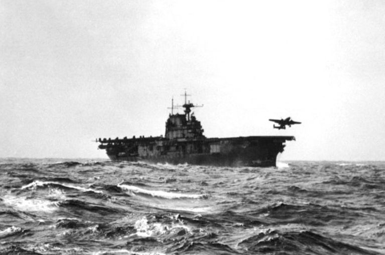 Doolittle Raid launching from USS Hornet.