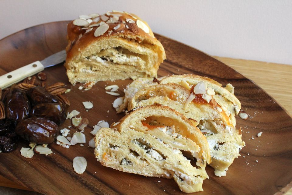 Herbed Goat Cheese and Apricot Babka