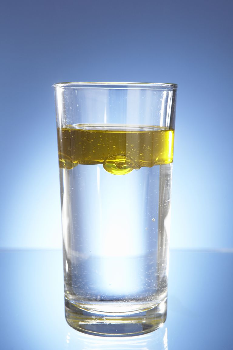 Oil and water don't mix. They are said to be immiscible.