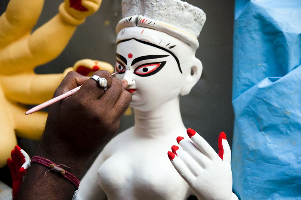 Making Durga.