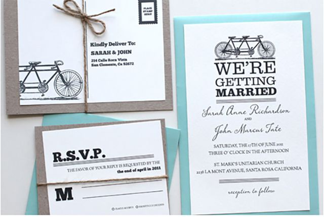 22 free printable wedding invitations bicycle printable wedding invitation junglespirit Images