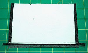 Finish the Edges of Fabric Postcards