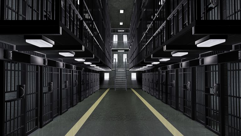 Interior views of traditional prison