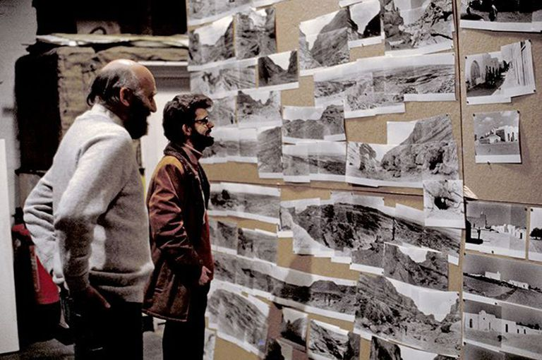 John Barry and George Lucas at a preproduction meeting for 'Star Wars'
