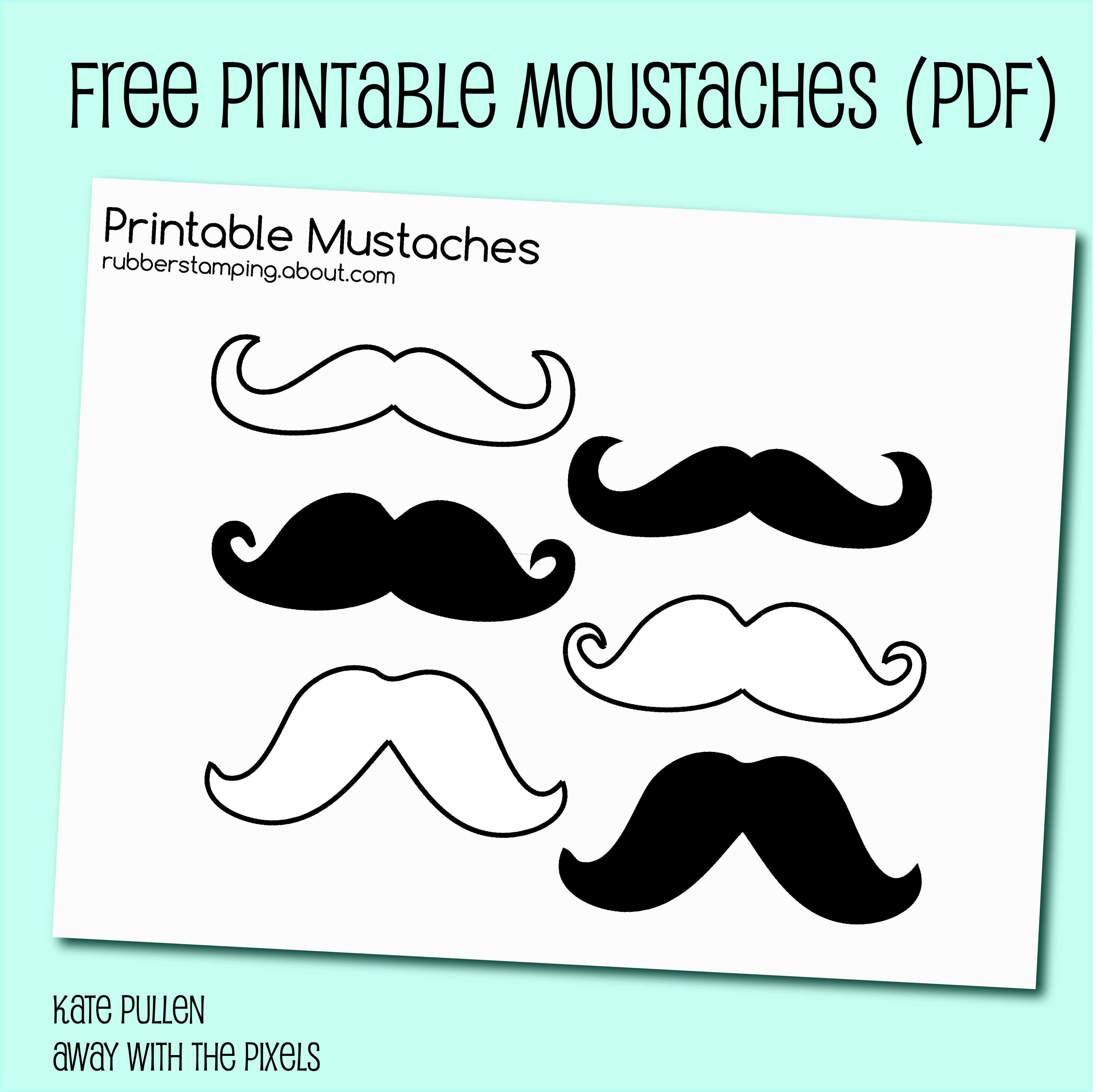 free printable mustache images