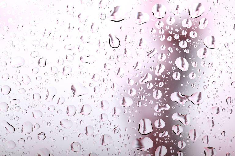 Water Drops on Shower Door