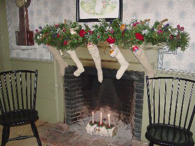 Stocking and Yule Log at Old Sturbridge
