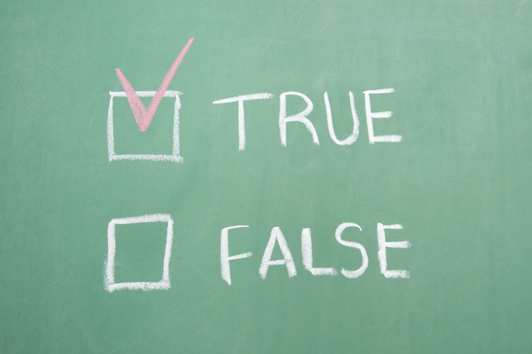 Questions on the MMPI are in a True/False format.