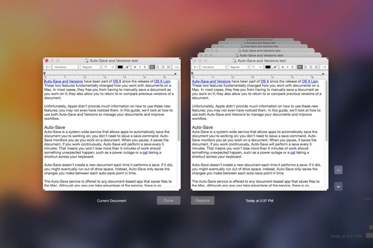 Versions Browser for OS X