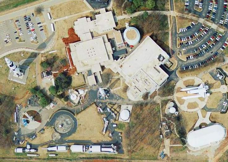 U.S. Space and Rocket Center, Huntsville, Alabama as seen from a USGS aerial photo