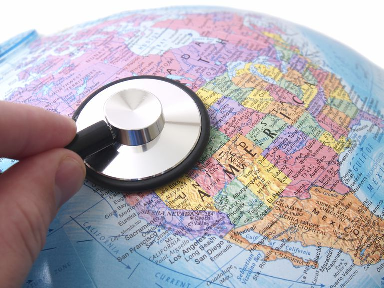 Stethoscope on U.S. Map