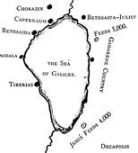 Sea of Galilee Map