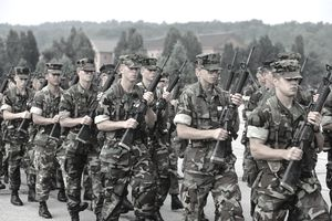 GROUP OF MARINES WEARING...