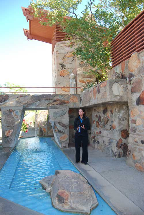 Frank Lloyd Wright and Taliesin West in Scottsdale, Arizona