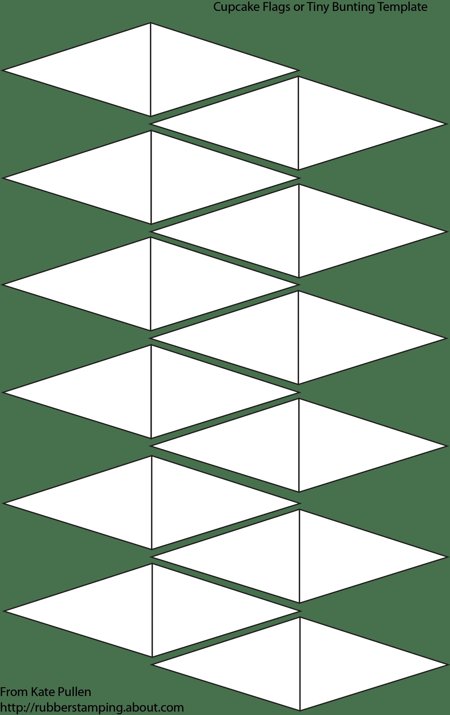 blank cupcake flags template