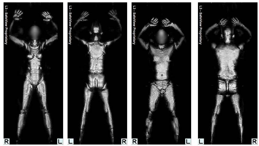 TSA Xray Machine Picture - TSA Backscatter Body Imaging Picture - image from the TSA showing body