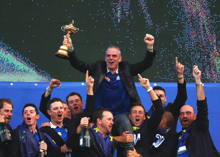 Europe celebrates winning 2014 Ryder Cup
