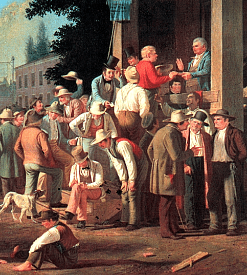 Detail - The County Election by George Caleb Bingham