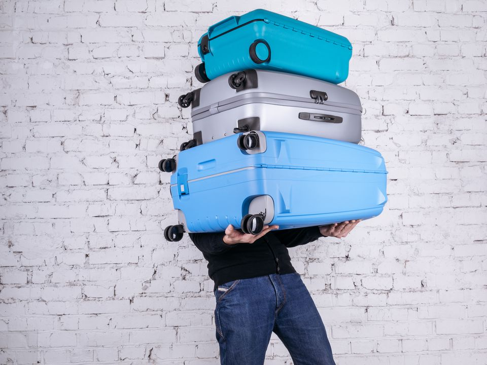 The man with three suitcases